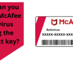 How can you install McAfee antivirus using the product key