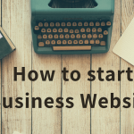 start a business website from scratch